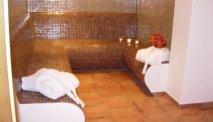De wellness bij Ferienhotel Geisler bestaat onder andere uit een stoomruimte
