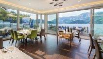 Vanuit het restaurant van Hotel Nidwaldnerhof kijkt u prachtig uit over het water