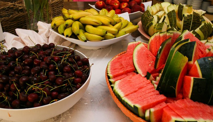 Heerlijk sappig en rijp vers fruit bij Hotel Florida Park