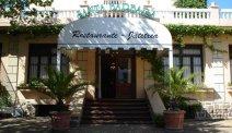 Entree van het restaurant bij Hotel Zarauz