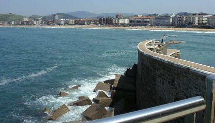De kust bij Hotel Zarauz