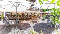 Het heerlijke terras van Hotel Bunda Davos