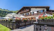 Heerlijk terras bij Hotel Bunda Davos