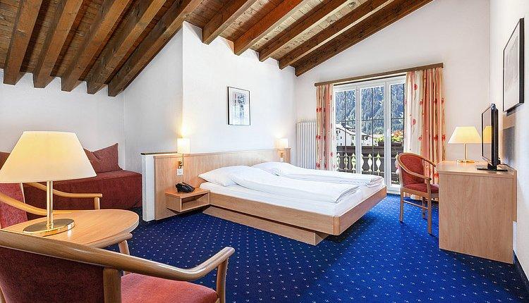 Hotel Bunda Davos - 2-persoonskamer met balkon