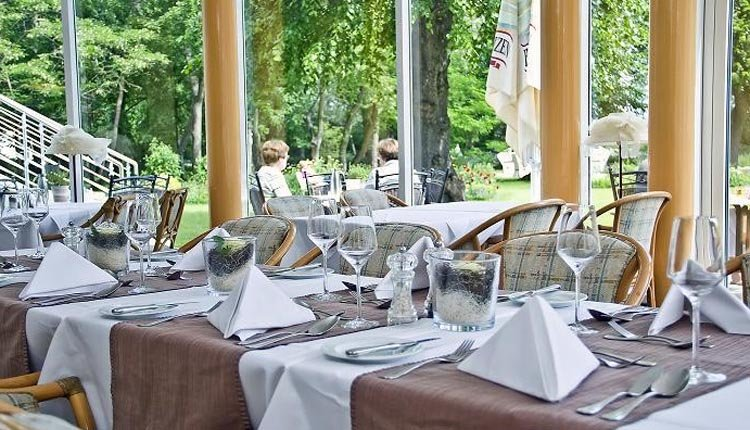 Het restaurant van Seehotel Großherzog von Mecklenburg
