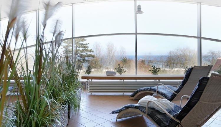 Heerlijk ontspannen in de relaxruimte van Seehotel Großherzog von Mecklenburg
