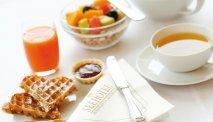 Het ontbijt in Seehotel Großherzog von Mecklenburg is goed verzorgd