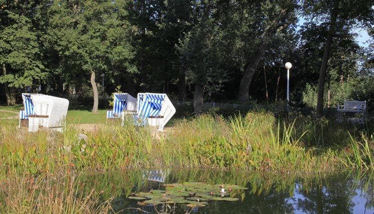 De tuin bij Seehotel Großherzog von Mecklenburg