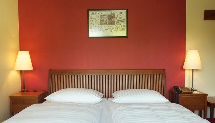 De tweepersoonskamer in Hotel Kaufmannshof
