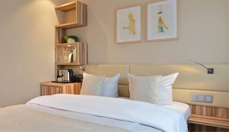 De tweepersoonskamers in Parkhotel Oberhausen zijn van alle gemakken voorzien