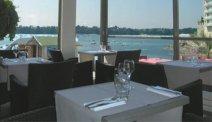 Een prachtig uitzicht vanuit het restaurant van Hotel de la Valee