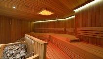 Het wellnessventre bij Hotel Latini - zwembad en wellness heeft een prachtige ruime sauna