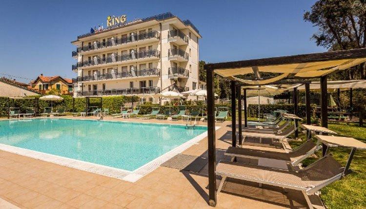 Hotel King in Marina di Pietrasanta aan de Toscaanse kust