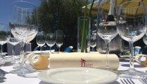 De gedekte tafels staan voor u klaar bij Hotel Ciudad de Haro