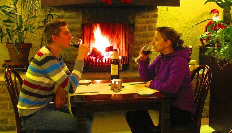 Zalig restaurant met romantische haard bij Hotel des Ardennes