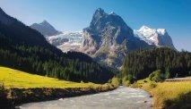 Fantastisch berglandschap in de omgeving van Hotel Meiringen