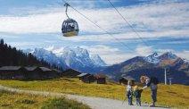 Als u bij Hotel Meiringen verblijft kunt u de kabelbaan de bergen in nemen. Genieten van dit imposante berglandschap.