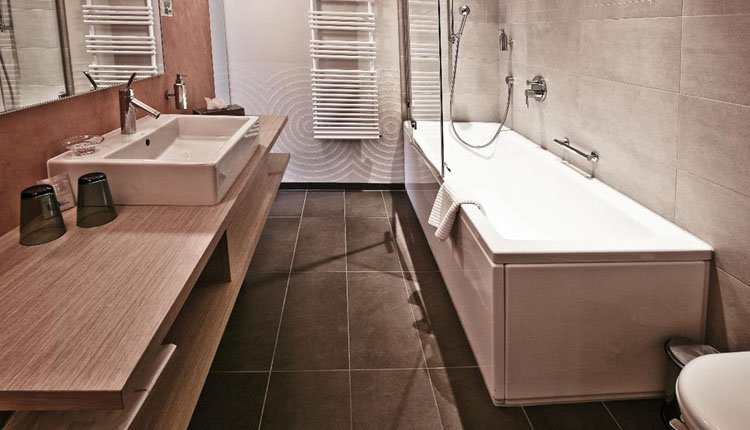 Parkhotel du Sauvage - 2-persoonskamer Superior, badkamer