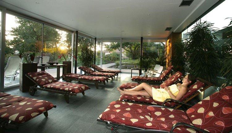 Ontspannen in de relaxruimte van Hotel Weiss