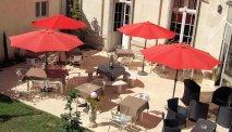 Het gezellige terras van Best Western Central Hotel