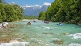 De mooie natuur rondom Bovec in Slovenië