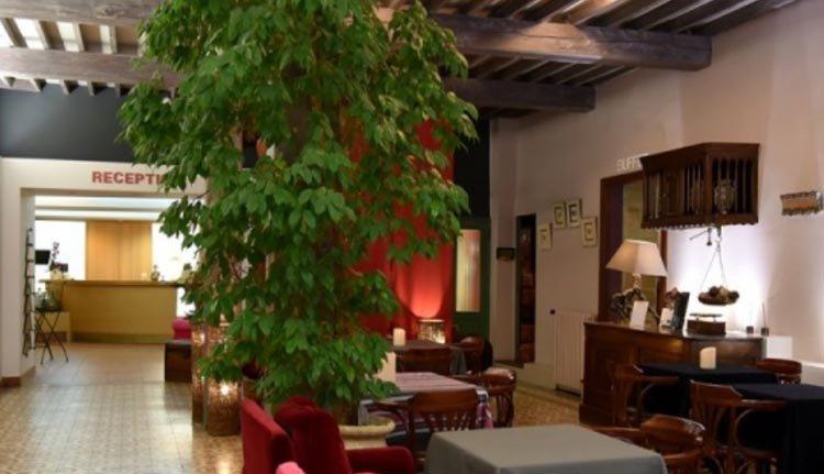 De hal in Hotel Le Glacier