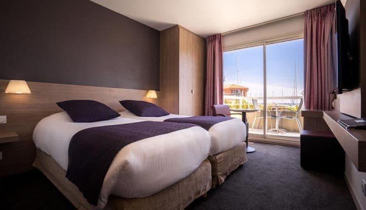 De tweepersoonskamers in Best Western La Marina zijn comfortabel