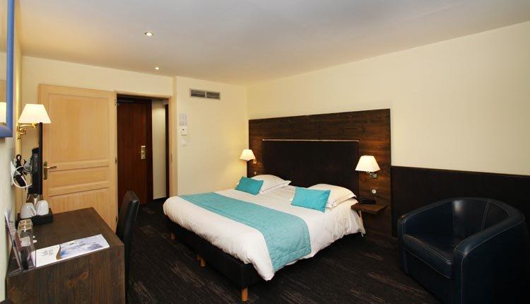 De tweepersoonskamers van Hotel de la Jamagne zijn comfortabel