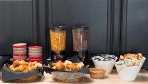 Elke morgen staat er een uitgebreid ontbijtbuffet klaar bij Hotel L'Aubergade