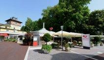 Hotel Post Velden - restaurant met terras