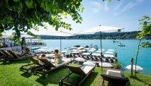 Het fantastische zonneterras van Hotel Post Velden