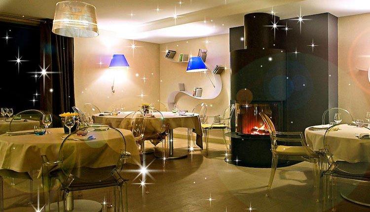 Het moderne restaurant van Hotel Les Rives