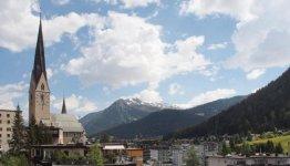 Davos in Zwitserland ligt maar liefst 1560 meter hoog