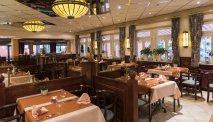 Het gezellige restaurant in Hotel Belle Vue in Vianden