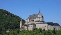 Het schitterend gelegen kasteel van Vianden