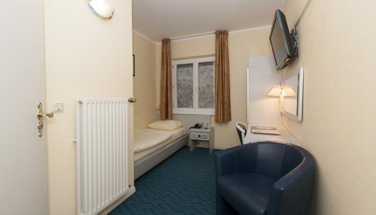 De eenpersoonskamers in Hotel Belle Vue in Vianden