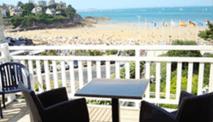 Het terras van Hotel De La Plage biedt een prachtig uitzicht