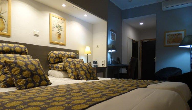 De tweepersoonskamer superieur in Hotel Le Glacier