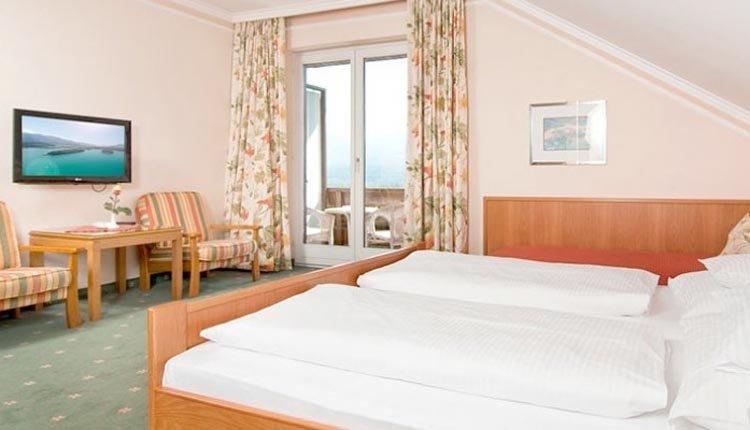 De tweepersoonskamers in Ferienhotel Schönruh zijn comfortabel