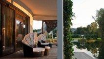 Het terras van Seeparkhotel Klagenfurt nodigt uit