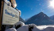 Ook in de winter is het genieten rondom Gasthof Venedigerblick