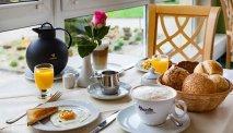Elke morgen staat er een heerlijk en uitgebreid ontbijtbuffet klaar in Hotel Kammweg