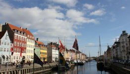 De gezellige havens van Kopenhagen in Denemarken