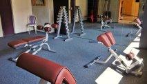 De fitnessruimte van Familienhotel Pillerseehof