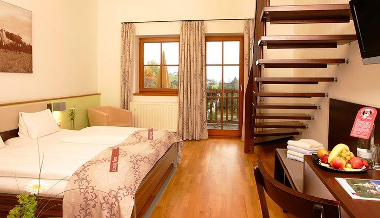 De familiekamer Eiskögel, met twee etages, is een sfeervolle en comfortabele familiekamer