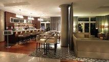 De hippe BLU lounge van AC Hotel Marriott Ambassadeur