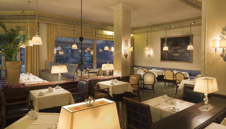 Het restaurant van Wyndham Grand Hotel in Bad Reichenhall