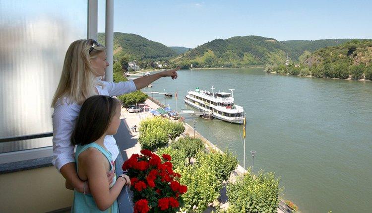 Hotel Baudobriga - 2-persoonskamer met balkon en Rijnzicht