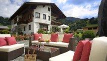 De heerlijke tuin van Hotel Alpenrose