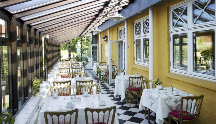 Hotel Rold Gl. Kro - restaurant met serre